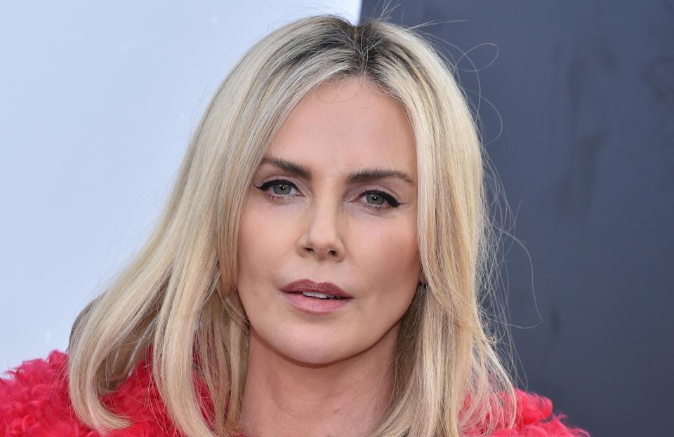 South African-US actress Charlize Theron arrives for the world premiere of