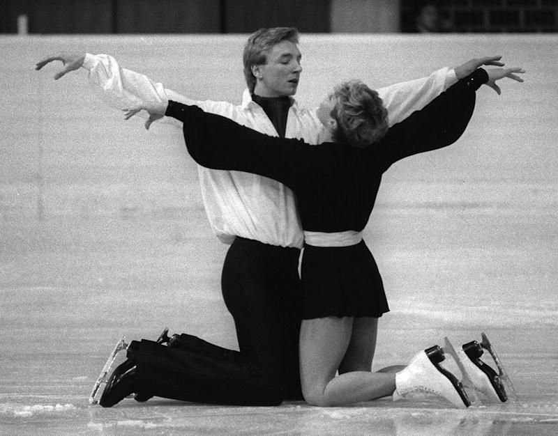 British figure skaters Christopher Dean and Jayne Torvill who won gold at the 1984 Winter Olympic Games Photo: AFP/Getty Images