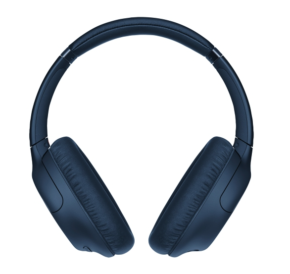 Sony WH-CH710N Over-Ear Noise Cancelling Bluetooth Headphones in blue. Image via Best Buy.
