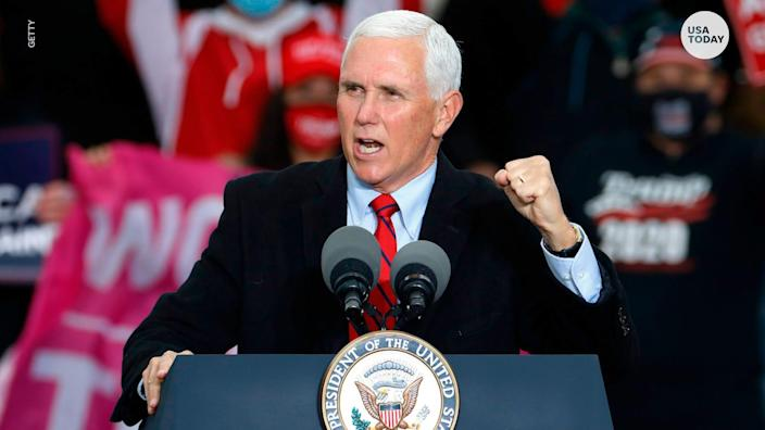 Vice President Mike Pence, in his constitutional role as president of the Senate, will preside over Congress' acceptance of states' Electoral College votes on Jan. 6, 2021.