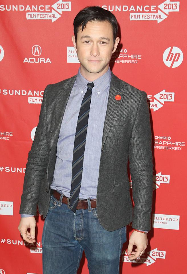 "PARK CITY, UT - JANUARY 18:  Actor/director Joseph Gordon-Levitt attends ""Don Jon's Addiction"" Premiere during the 2013 Sundance Film Festival at Eccles Center Theatre on January 18, 2013 in Park City, Utah.  (Photo by Joe Scarnici/Getty Images)"