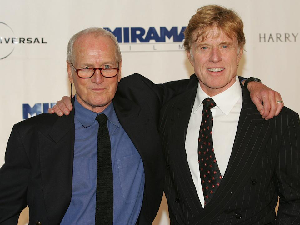 Paul Newman and Robert Redford in 2004.