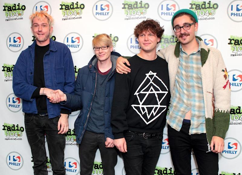 "FILE - This March 21, 2013 file photo shows English indie rock band Alt-J, from left, Thom Green, Gwil Sainsbury, Joe Newman and Gus Unger-Hamilton at the Radio 104.5 iHeartradio Performance Theater in Philadelphia. Their debut album, ""An Awesome Wave,"" went on to win the prestigious Mercury Prize given to the top album of the year in the United Kingdom and Ireland. The Cambridge quartet has since been a near constant conversation piece on the blogosphere and mid-sized club circuit on both sides of the Atlantic Ocean. (Photo by Owen Sweeney/Invision/AP, file)"