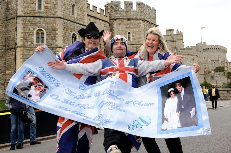 Brits have been celebrating the birth of the royal baby (Getty)