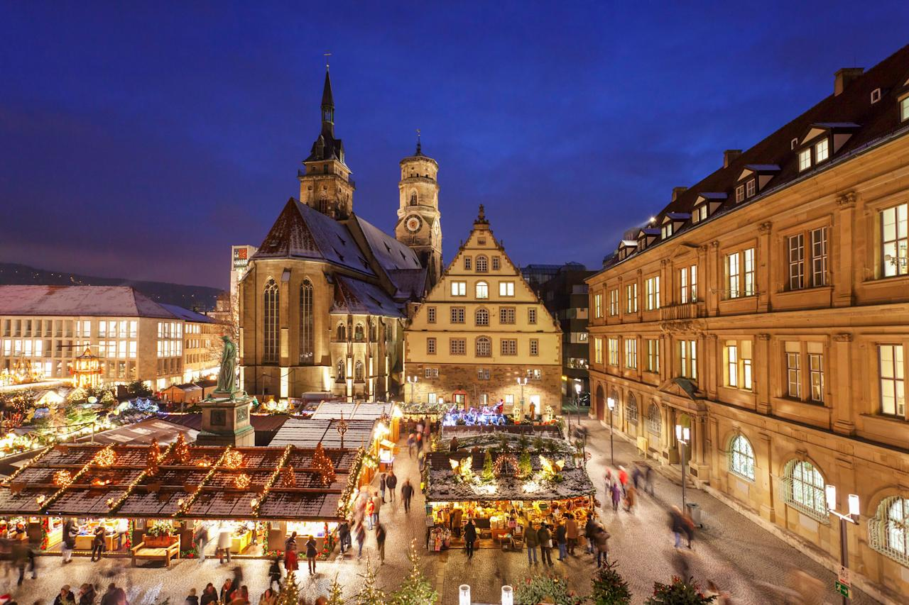 "<p><strong>Why we love it:</strong> Considered by many Germans to be one of the most traditional markets in the country thanks to its sparkling trees, local artisans, and long history (its first documented mention was in 1692), the <a href=""https://www.stuttgarter-weihnachtsmarkt.de/de/home/"">Stuttgarter Weihnachtsmarkt's</a> setting is appropriately historical as well: Its nearly 300 stalls are set against the backdrop of the Old Castle, which dates back to the 10th century. Sip on the usual mulled wine, sure, but don't miss the chance to sample some maultaschen. The large, ravioli-like noodles are a speciality of the region.</p> <p><strong>When:</strong> November 27 to December 23</p>"