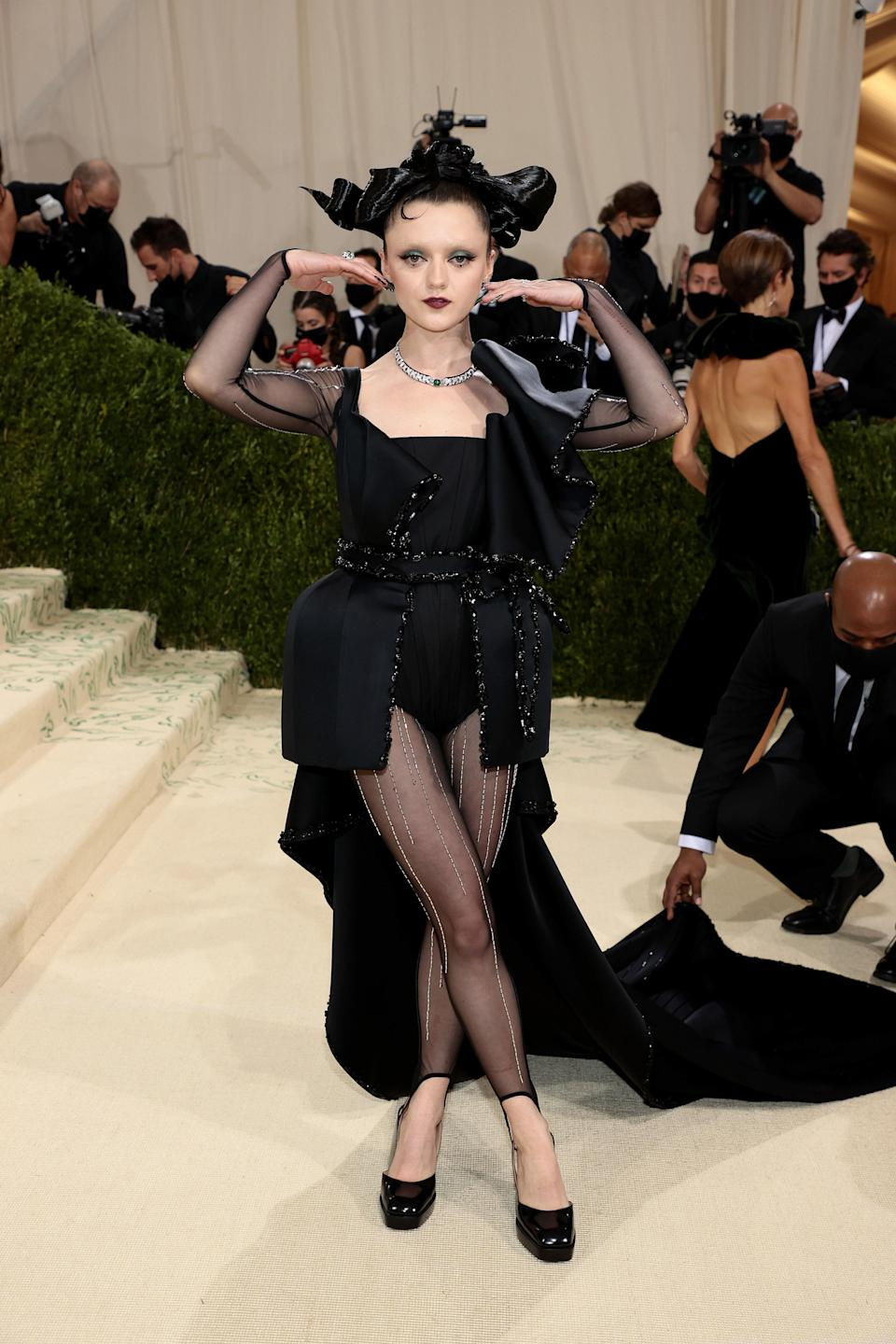 """<h1 class=""""title"""">Maisie Williams, The 2021 Met Gala Celebrating In America: A Lexicon Of Fashion - Arrivals</h1><cite class=""""credit"""">Getty</cite>"""
