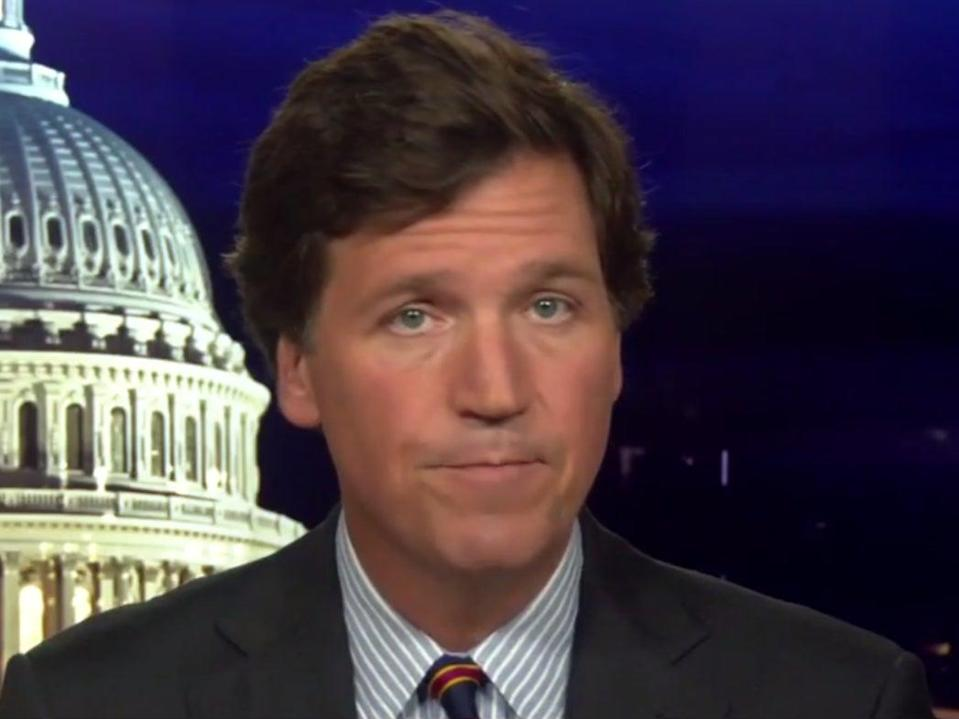 Tucker Carlson speaks during Tucker Carlson Tonight on Wednesday 16 September ((Fox News))