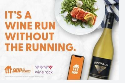 Wine Rack available for delivery through SkipTheDishes starting October 29, 2020 (CNW Group/SkipTheDishes)