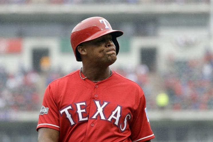 Adrian Beltre had a tough time with an eephus pitch. (AP Photo)