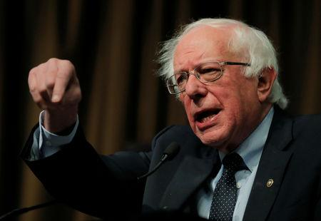 FILE PHOTO - U.S. 2020 Democratic presidential candidate and U.S. Senator Bernie Sanders speaks at the 2019 National Action Network National Convention in New York