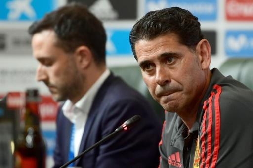 Fernando Hierro (right) will lead Spain at the World Cup