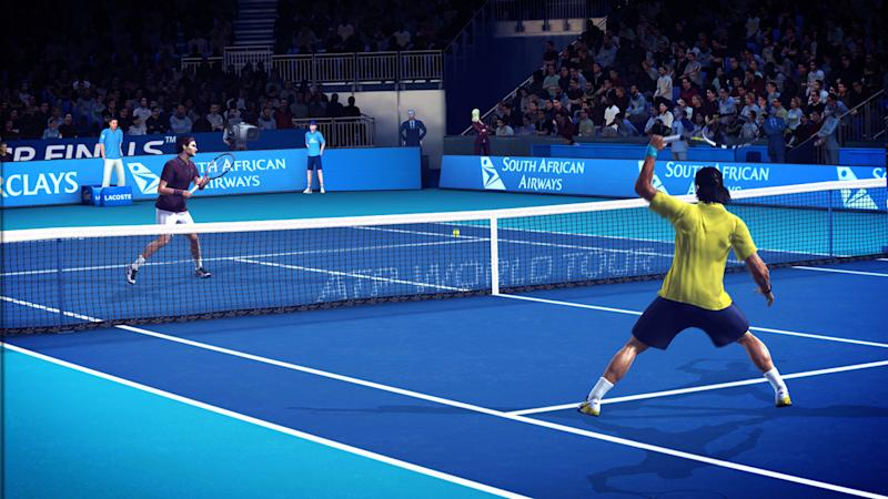 """In this video game image released by 2K Games, animated versions of tennis players Roger Federer, left, and Raphael Nadal are shown competing in """"Top Spin 4."""" (AP Photo/2K Games)"""