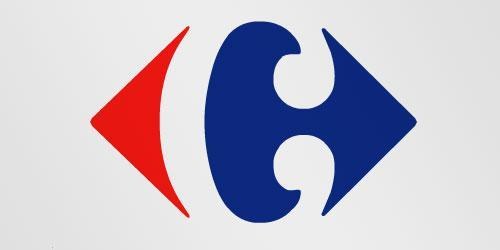 """<div class=""""caption-credit""""> Photo by: Carrefour</div>The logo for European retailer Carrefour, which means """"crossroads"""" in French, hides a C in the negative space between a pair of arrows pointing in opposite directions. Said Adams, """"Anytime the viewer needs to do a little work and solve a problem, the more intimate they become with the logo, and it sticks."""" <br>"""