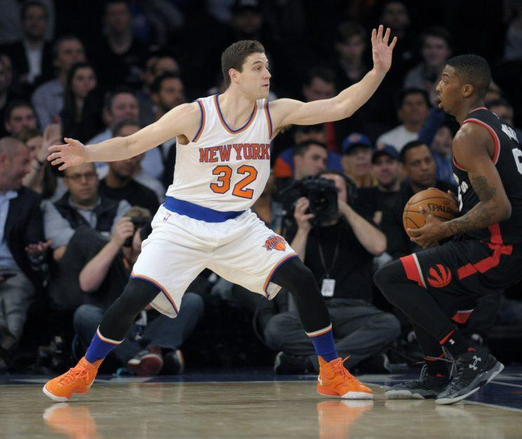 Fredette played six NBA games in 2015-16, two with the Knicks. (AP)