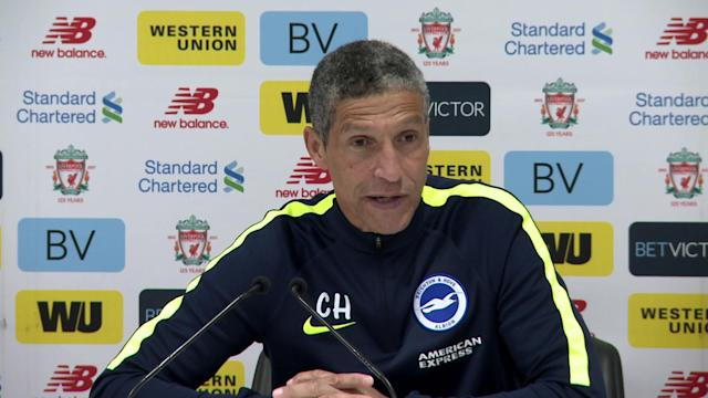 Chris Hughton on Brighton's tough week following defeats to City and Liverpool's 4-0 Anfield defeat