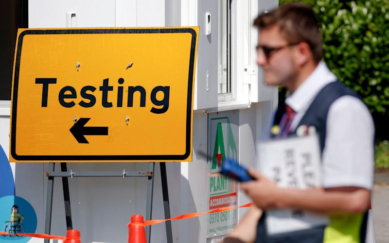 A Covid-19 testing centre at Bradford University in West Yorkshire - PA