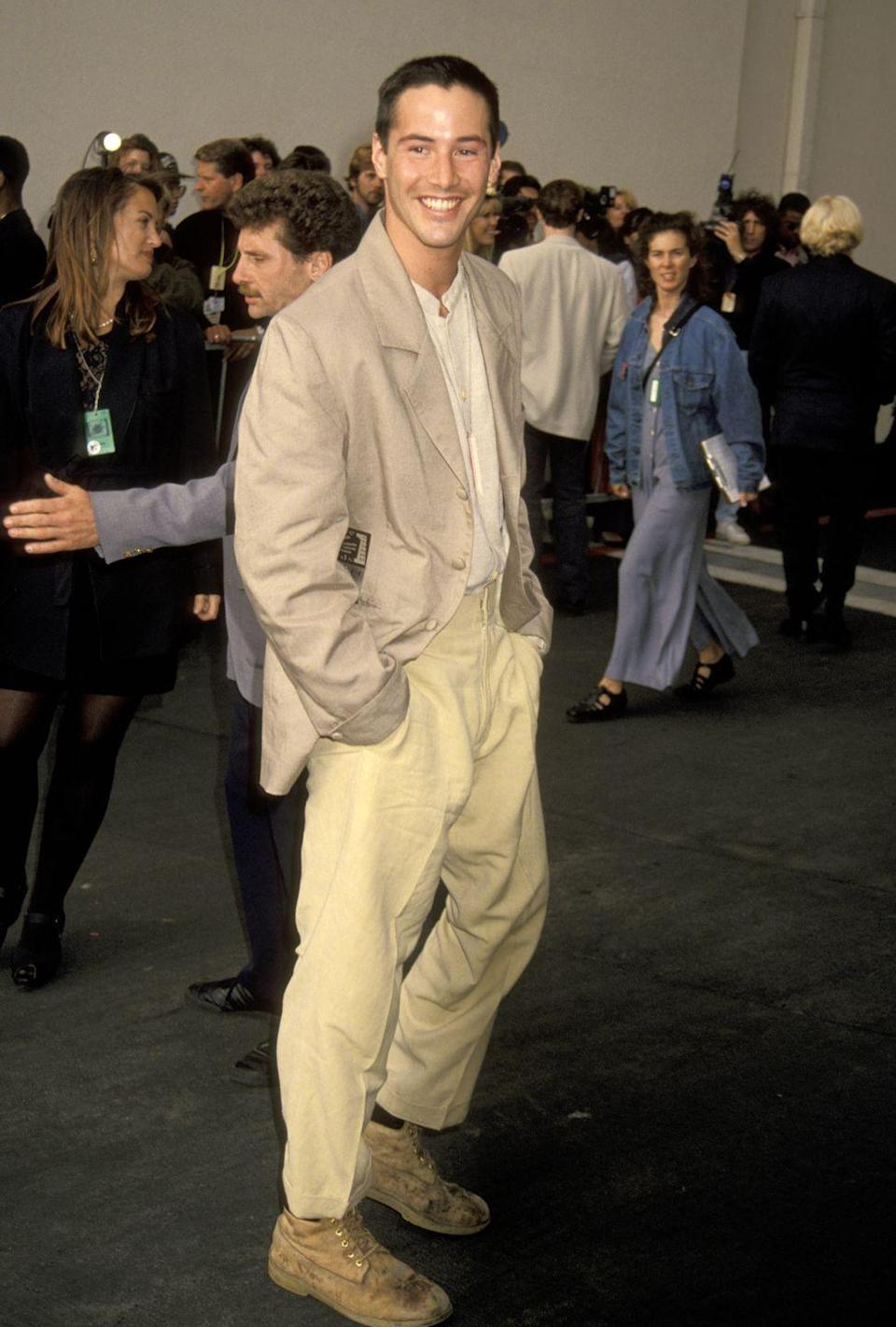 <p>Back in 1993, Keanu Reeves had some of the floppiest hair in Hollywood. So, it was a big deal when the actor shaved his head down to the bare minimum for his role in <em>Speed</em>. </p>