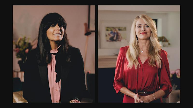 WARNING: Embargoed for publication until 00:00:01 on 15/09/2020 - Programme Name: Strictly The Best Of - TX: 19/09/2020 - Episode: n/a (No. 1) - Picture Shows: Claudia Winkleman, Tess Daly - (C) BBC - Photographer: screen grab