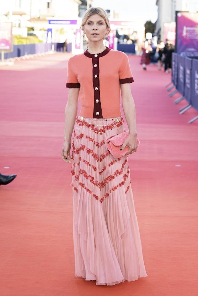 <p><strong>9 September </strong>Clémence Poésy looked chic in Chanel on the red carpet at the Resitance premiere. </p>