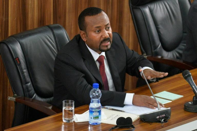 Prime Minister Abiy Ahmed, speaking in parliament in February