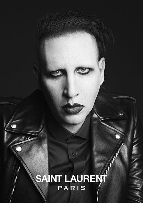 "Marilyn Manson<p><a target=""_blank"" href=""http://www.dazeddigital.com/fashion/gallery/15800/2/saint-laurent-music-project"">See more at Dazed Digital</a></p>"