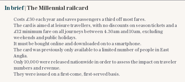 In brief | The Millennial railcard