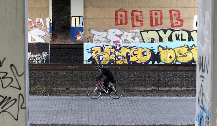 The new velo routes are a luxury upgrade from the ageing single-lane bike paths common in many German cities (AFP Photo/Patrik Stollarz)