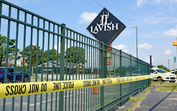 The Lavish Night Club where a shooting early Sunday left numerous dead and at least 8 injured July 5, 2020, - Richard Shiro/AP