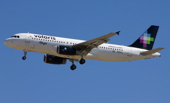 A Volaris plane in flight
