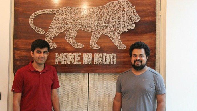 Emflux co-founders Ankit Khatry (L) and Varun Mittal