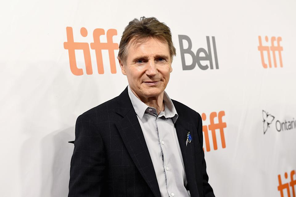 Liam Neeson surprised a bunch of Melbourne nurses with flowers and a handwritten note on Thursday. Photo: Getty
