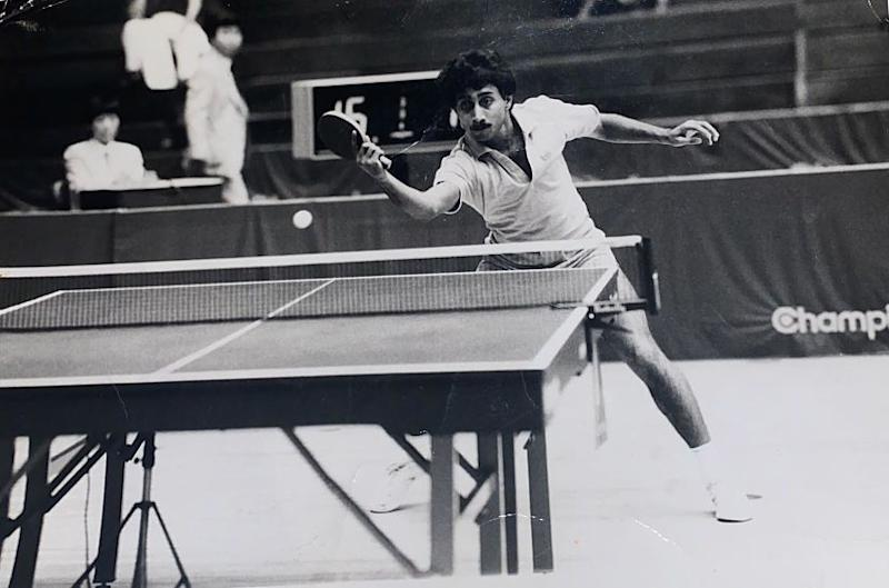 File image of former National table tennis champion Manmeet Singh Walia.