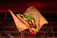 <p>Back in a galaxy far, far, away, Ronto Roasters in Star Wars: Galaxy's Edge offer the Triple Suns Breakfast. Served in pita bread with plant-based egg, the MVP of this wrap is the smoky chickpea-onion slaw. </p>