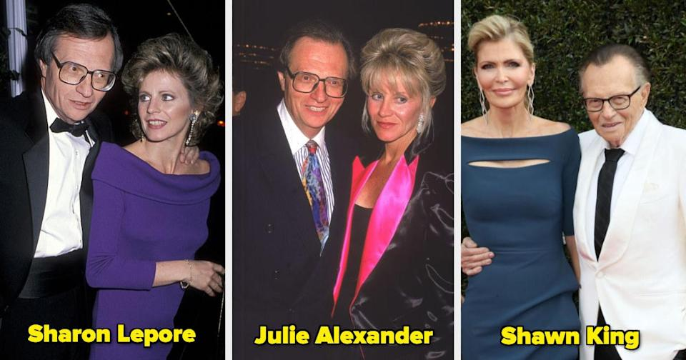 Larry King with three former wives