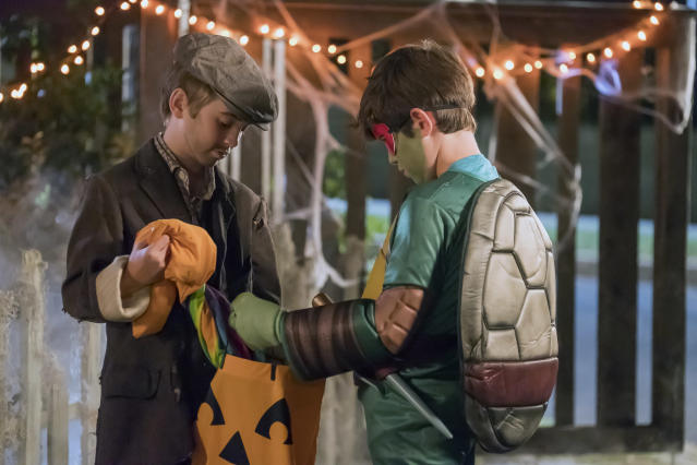 <p>Parker Bates as Kevin in NBC's <i>This Is Us</i>.<br>(Photo: Ron Batzdorff/NBC) </p>