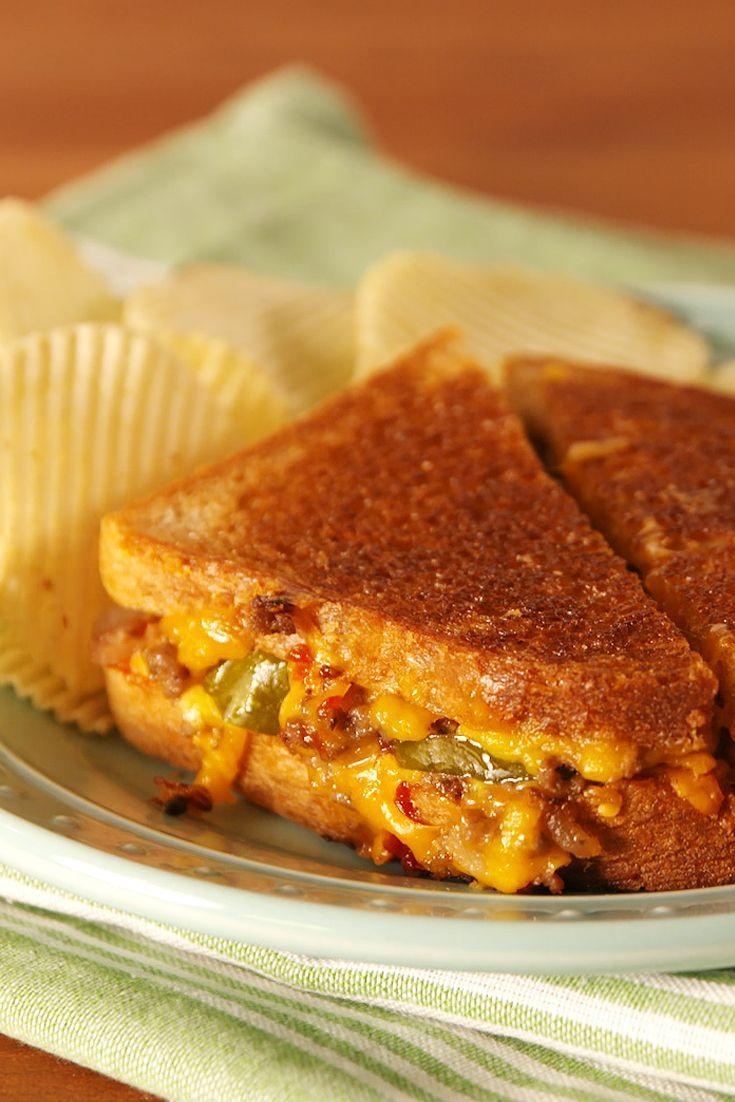 """<p>It's the grilled cheese we didn't know we needed.</p><p>Get the recipe from <a href=""""/cooking/recipe-ideas/recipes/a53025/cheeseburger-grilled-cheese-recipe/"""" data-ylk=""""slk:Delish"""" class=""""link rapid-noclick-resp"""">Delish</a>.</p>"""