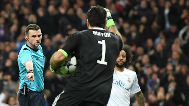 The English official made headlines by sending off the Juventus goalkeeper in their Champions League quarter-final with Real Madrid