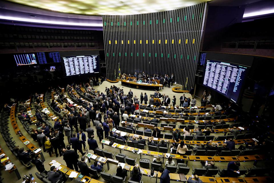 A general view of the plenary chamber of deputies during a session to vote the pension reform bill in Brasilia, Brazil July 9, 2019. REUTERS/Adriano Machado