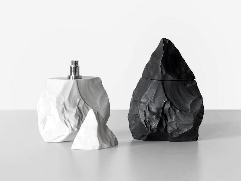 Kentaro Yamada's Neanderthal scents, in a hand ax–shaped bottle. Courtesy of Neanderthal.