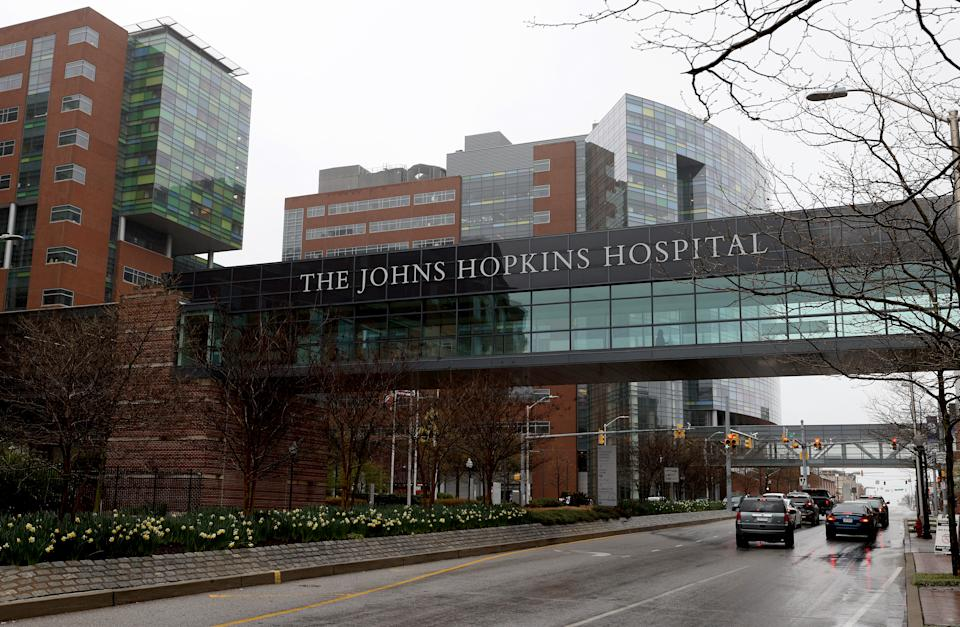 Johns Hopkins Hospital in Baltimore. (Rob Carr/Getty Images)