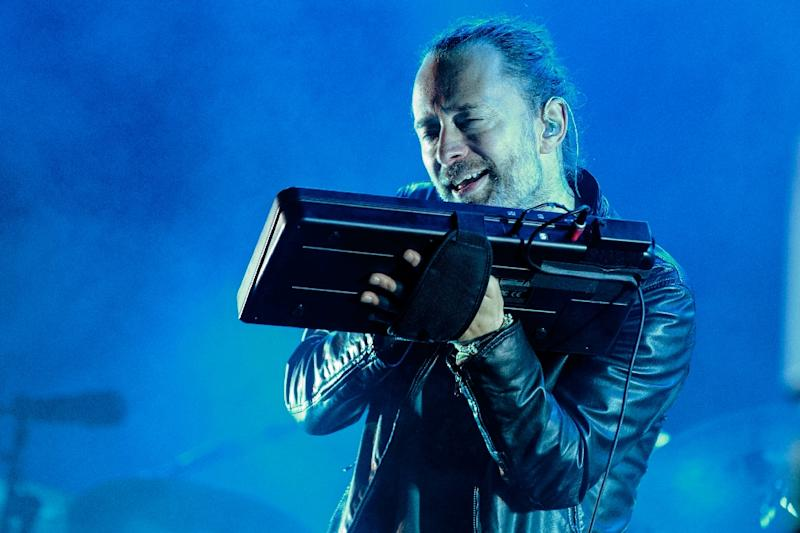 Radiohead's Thom Yorke, pictured in 2016 performing in Austin, Texas