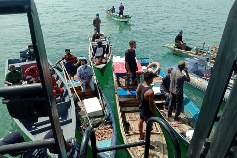 Some Indonesian fishermen spend weeks or even months far from the coast