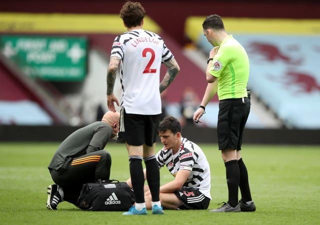 Maguire has been out with an ankle ligament injury since early May