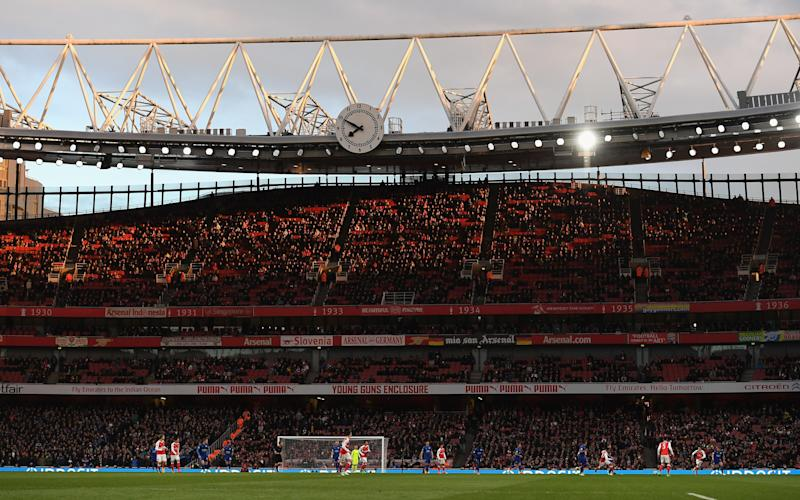 A general view of match action during the Premier League match between Arsenal and Leicester City - Credit: GETTY