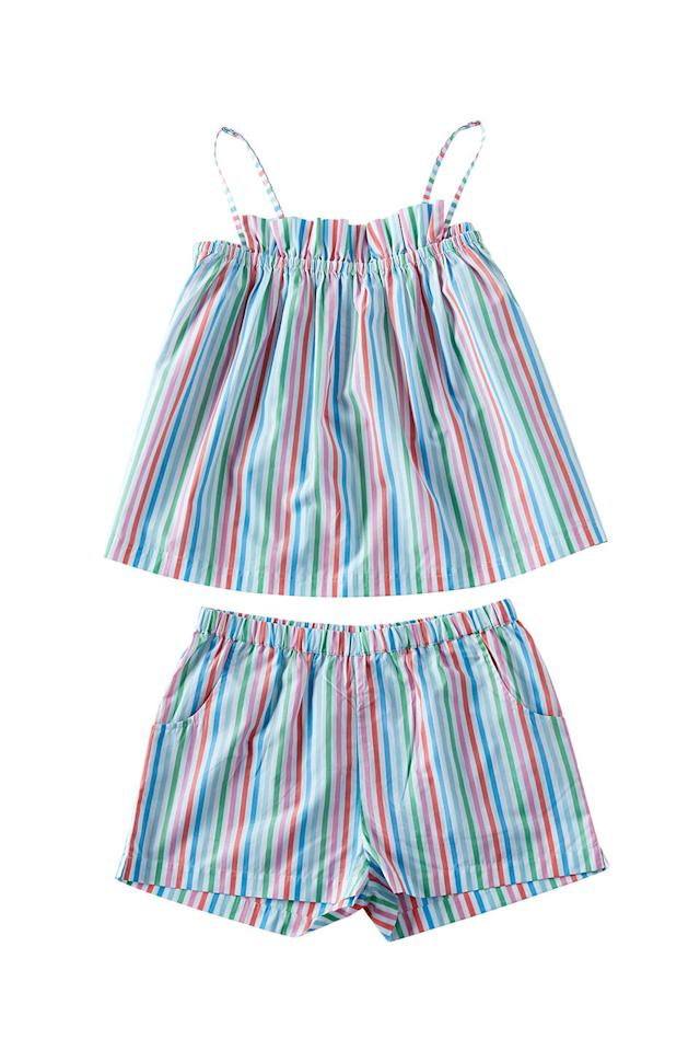 """<p>Pair the top with jeans and a bomber jacket for an adorable back-to-school outfit. </p><p>Lake Pajamas pajama set, $108, <a rel=""""nofollow"""" href=""""https://lakepajamas.com/"""">lakepajamas.com</a></p>"""