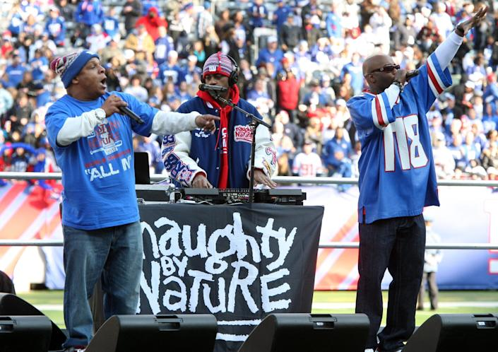 New Jersey's own Naughty by Nature perform on Feb. 7, 2012, in East Rutherford.