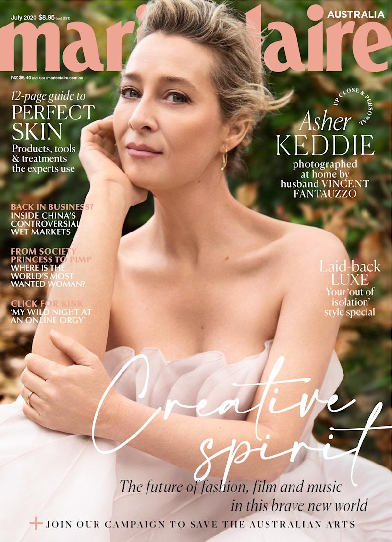 Asher Keddie July issue of Marie Claire
