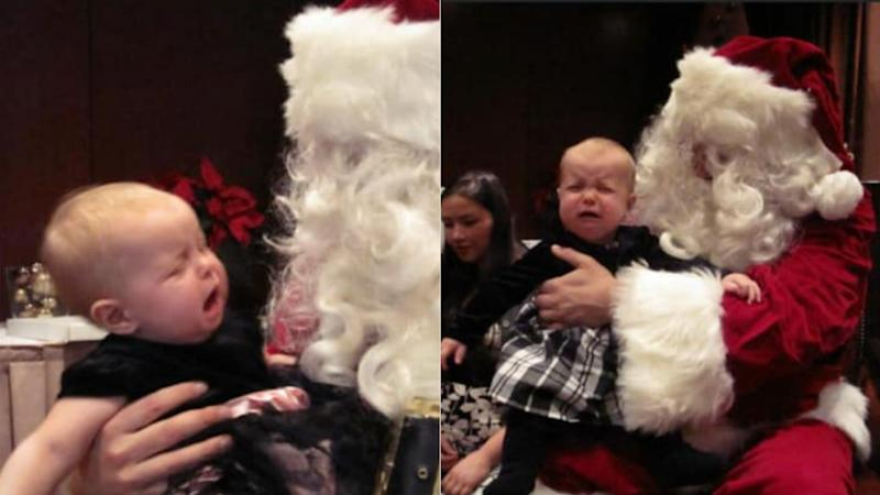 """It was their own father dressed as Santa. Made it extra hilarious. We were so young and naive,"" Squamish, B.C. mom Candace O'Brien said of her twins."