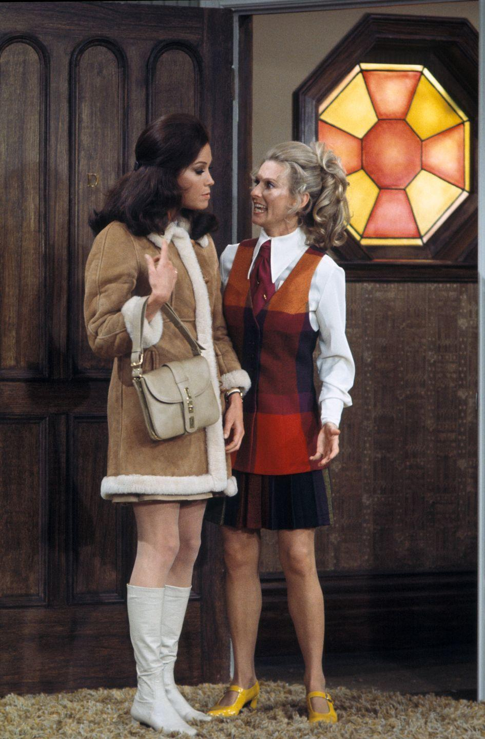 """<p>September 1970 saw the arrival of an iconic TV series and its ultra-stylish star. After <em>The Mary Tyler Moore Show </em>premiered, every """"career woman"""" had a closet full of menswear-inspired trousers and were ready to toss a beret into the air at a moment's notice.</p>"""