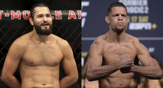 Jorge Masvidal and Nate Diaz will headline UFC 244 at Madison Square Garden in New York City. (Getty Images/USA Today Sports)